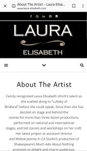 Laura Elisabeth Ulrich website theatre bio
